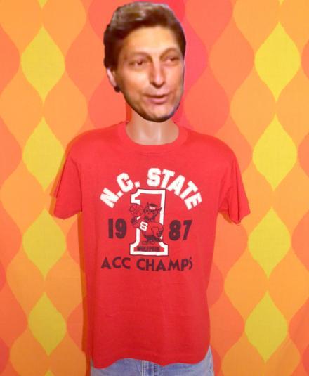 vintage NC STATE wolfpack basketball 1987 t-shirt carolina