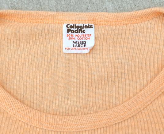vintage 70s PEACHES t-shirt women ladies atlanta georgia hot