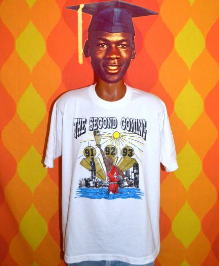 vintage MICHAEL JORDAN chicago bulls 90s nba funny tee shirt