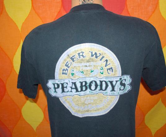 vintage PEABODY'S bar restaurant blowing rock t-shirt beer