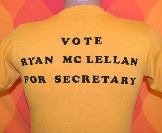 vintage VOTE ryan mclellan politics election t-shirt 80s