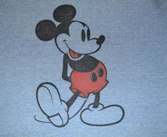 vintage disney MICKEY MOUSE heathered ringer t-shirt 70s 80s