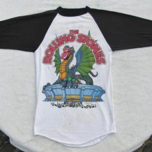 Rolling Stones ORIGINAL VINTAGE RARE 1981 SEATTLE Tour Shirt