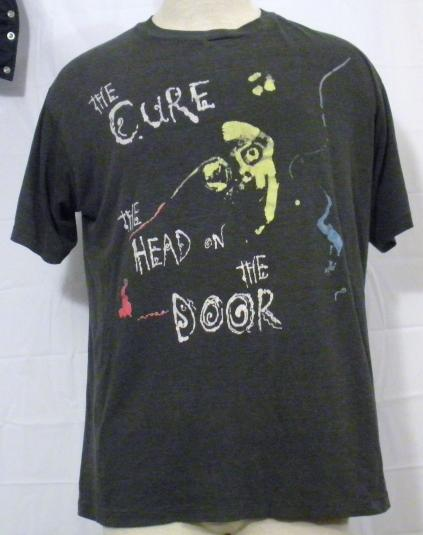 Vintage 1985 The Cure Head on the Door Rare Large T-Shirt