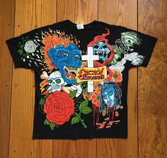 "1992 Ozzy Osbourne ""Tattoo"" OverPrint T-shirt (DeadStock)"