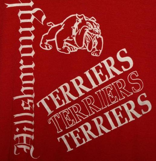 Vtg 80s/90s Hillsborough High School Terriers T-shirt