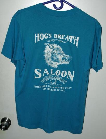 Vtg 90s Hogs Breath Saloon Ft Walton Beach Florida T-shirt