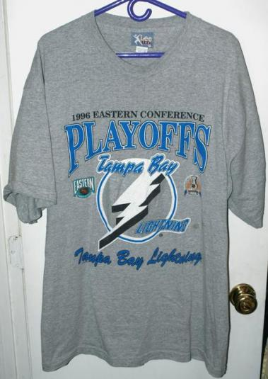 Vintage 1996 Tampa Bay Lightning First Playoff Berth T-shirt