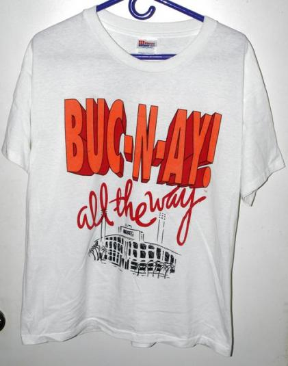 Vtg 90s Tampa Bay Buccaneers Buc-N-Ay All The Way T-shirt