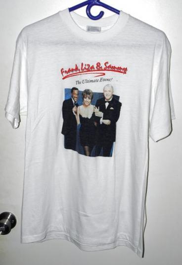 Vtg 80s Ultimate Event F Sinatra L Minelli S Davis Jr Tee