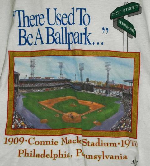 Vtg 90s Connie Mack Stadium Memories 21st Lehigh T-shirt
