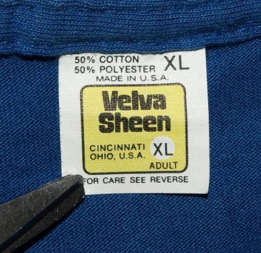Vintage Near Mint Velva Sheen Elvis Presley TCB T-shirt