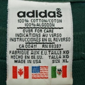 Vintage 90s Trefoil Adidas Forwards Backwards Print T-shirt