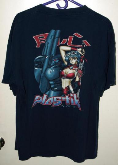 Vintage Rare 90s Plastik Sexy Anime Girl With Sword T-shirt
