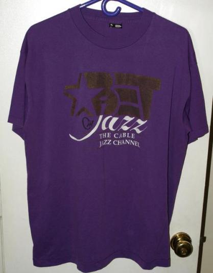 Vtg 90s BET/Black Entertainment Jazz Channel Promo T-shirt