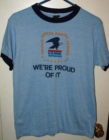 Vintage 80's US Mail Ringer T-Shirt