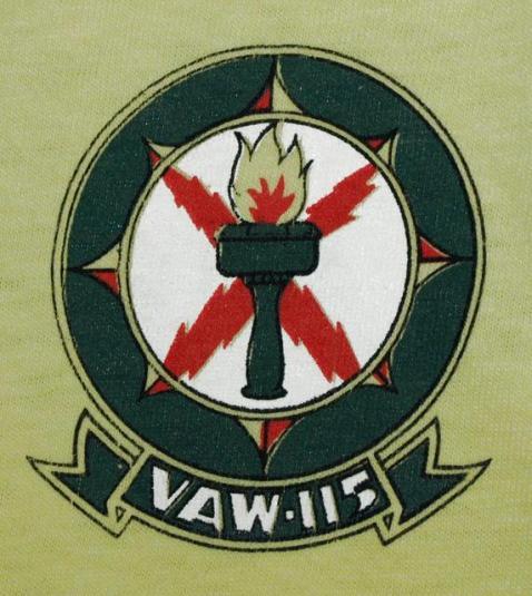 Vintage Hanes US Navy VAW 115 Liberty Airplane T-shirt