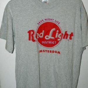 Vintage Save Night Life Red Light District Amsterdam T-shirt