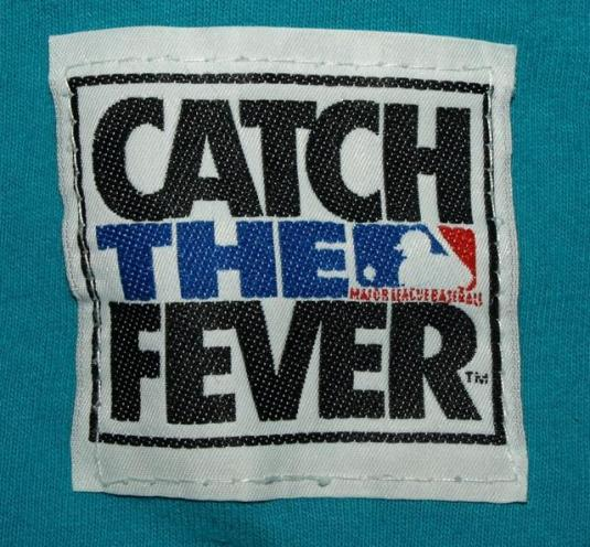 Vtg 90s Florida Marlins Catch The Fever Inaugural Season Tee