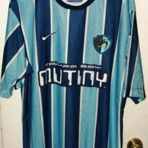 Vintage 90s Nike MLS Tampa Bay Mutiny Blank Jersey