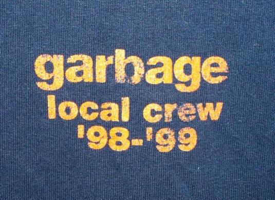 Vintage 90s Garbage Local Crew Concert Tour T-shirt