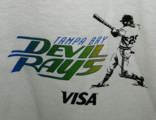 Vtg 1998 Tampa Bay Devil Rays Inaugural Season T-shirt