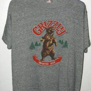 Vintage 80s Triblend Rayon Grizzly Beer T-shirt