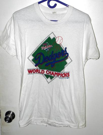 Vtg 80s Los Angeles Dodgers World Series Champs T-shirt