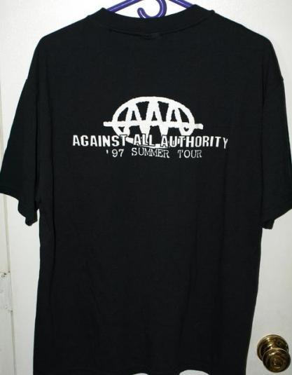 Vintage 90s Against All Authority Tour Concert T-shirt