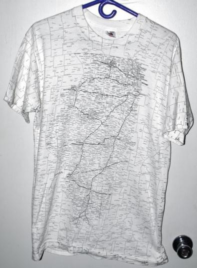 Vintage 90s State of Illinois All Over Print T-shirt