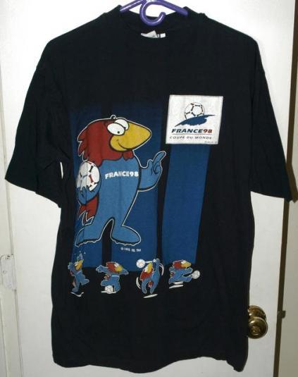 Vtg 1998 Official World Cup France/Coupe Du Monde T-shirt