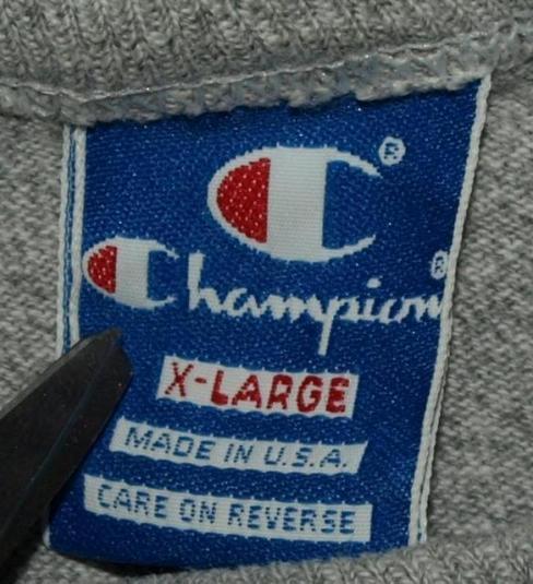 Vtg 80s/90s Champion Notre Dame Cotton/Rayon T-shirt