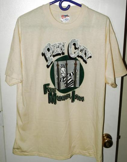 Vtg 80s/90s Fort Madison Iowa Penitentiary City T-shirt