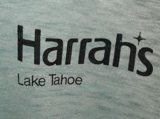 Vtg 70s/80s Harrahs Lake Tahoe Resort Casino T-shirt