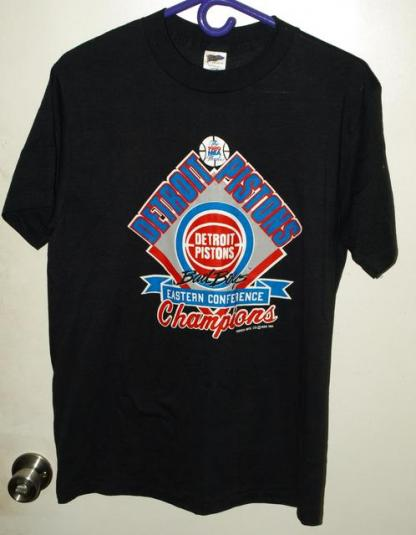 Vtg 80s Detroit Pistons Bad Boys NBA Finals East Champs Tee