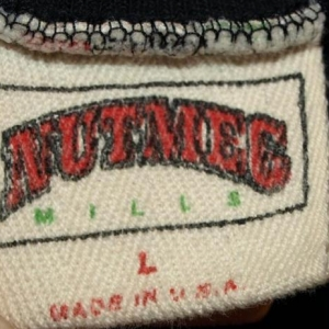 Vintage 50/50 Nutmeg Mills Oakland/LA Raiders Shirt Jersey