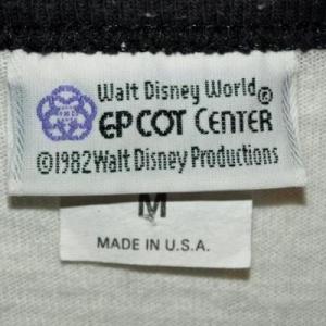 Vintage 80s Disney World Epcot Center Official Shirt Jersey