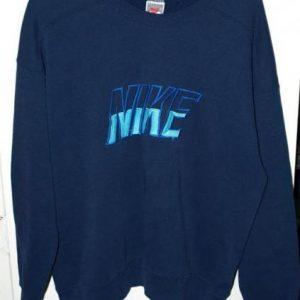 Vintage Nike Embroidered Grey/Gray Tag Sweatshirt/Crew Neck
