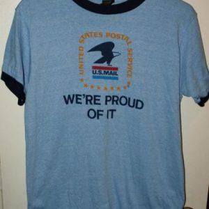 Vintage 1980's US Mail Ringer T-Shirt Mint