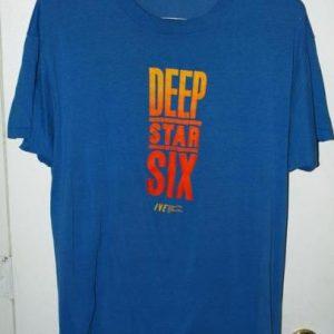Vintage 50/50 80s Deep Star Six Movie Promo T-shirt
