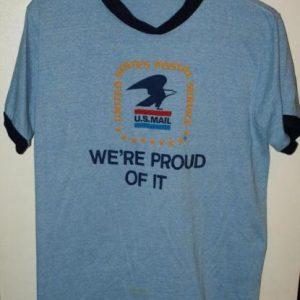 Vintage 1980's US Mail Ringer T-Shirt