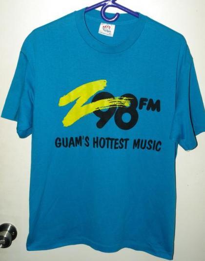 Vintage 80s/90s 50/50 Z98 Hottest Music in Guam T-shirt