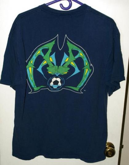 Vtg Nike MLS Tampa Bay Mutiny Spider Graphic T-shirt