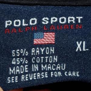Vtg 55/45 Rayon/Cotton Ralph Lauren Polo Sport LS Shirt