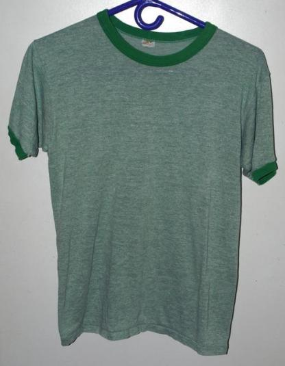 Vintage 80s Russell Athletic Triblend Rayon Ringer T-shirt