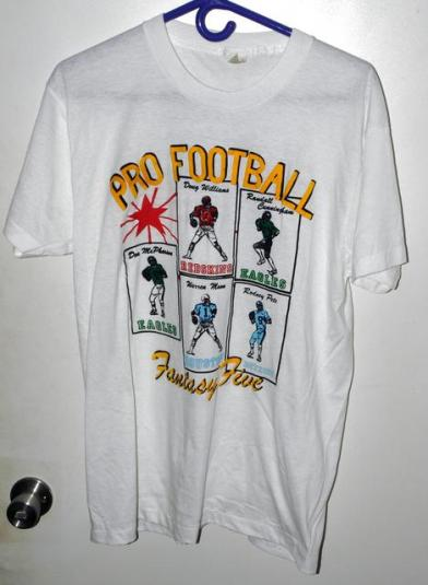Vtg 80s/90s NFL Football Fantasy 5 Black Quarterback T-shirt