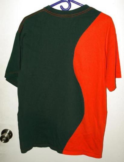 Vintage 90s University Miami Hurricanes Ying Yang T-shirt