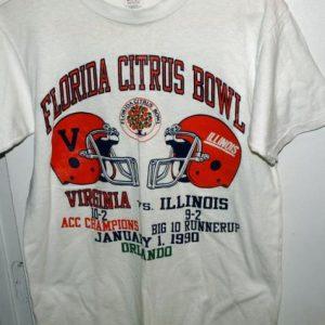 Vtg 1991 Champion Virginia vs Illinois Citrus Bowl T-shirt