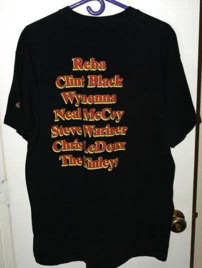 Vtg 90s Nashville Countryfest Concert Tour T-shirt