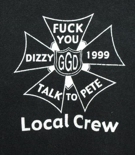 Vtg 90s Goo Goo Dolls Dizzy Up Local Crew T-shirt